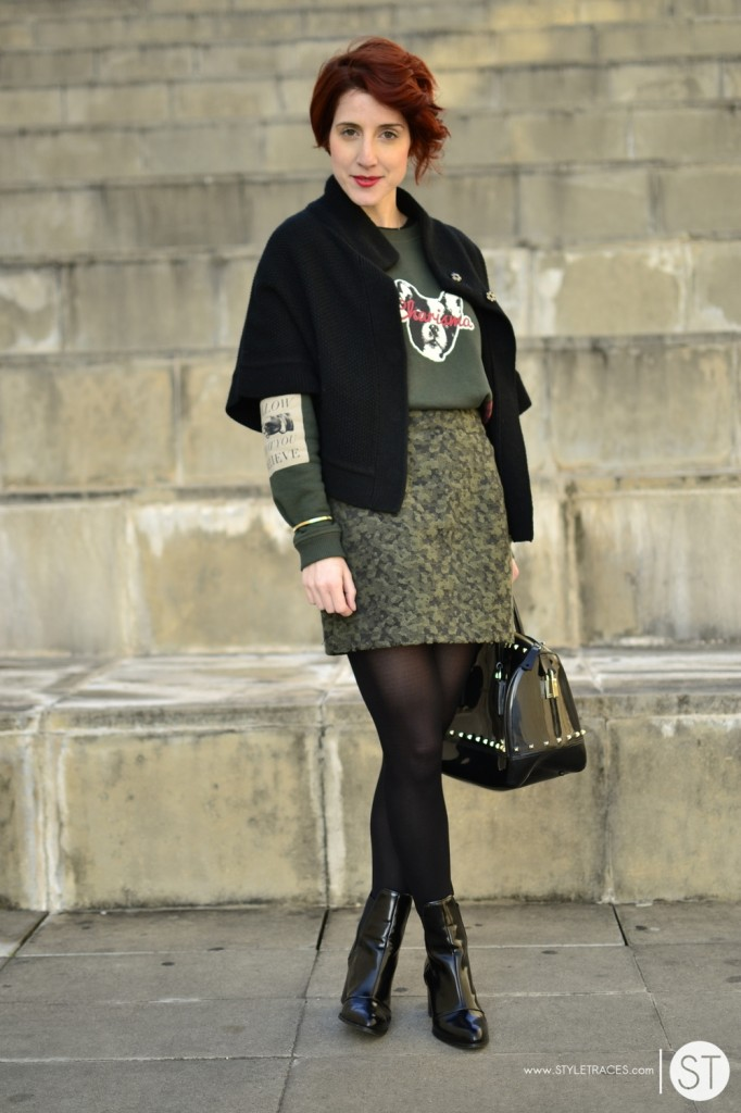 STYLETRACES-charisma_red head_street style_fashion blogger_green_french bulldog_zara boots_furla_candy bag-05