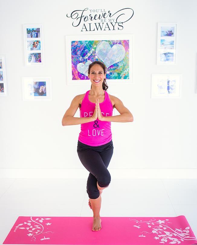 Jasmin Terrany, LMHC yoga pose