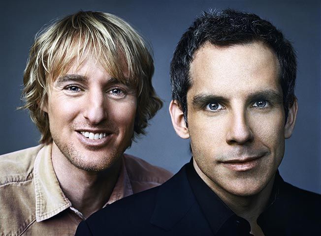 Actors Owen Wilson and Ben Stiller