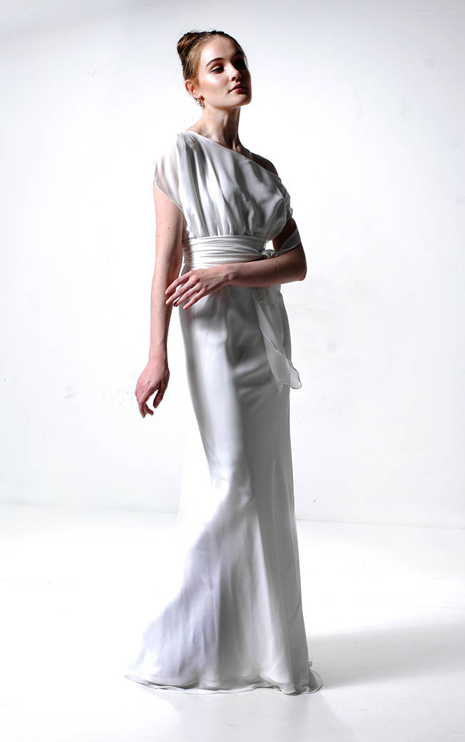 Lucy Laurita Serena Gown Ivory Georgette  Model Eryn Saunders Image Maurice Rinald